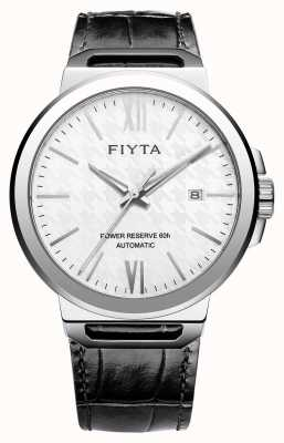 FIYTA Solo Automatic Black Leather White Dial Sapphire GA852000.WWB