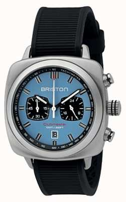 Briston Clubmaster Sport Black Rubber Light Blue Matt Dial 16142.S.SP.18.RB
