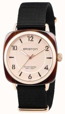 Briston Clubmaster Chic Black Strap Gold Tone Dial 18536.PRA.T.6.NB