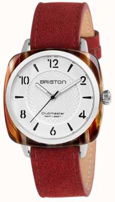 Briston Clubmaster Chic Red Strap White Dial 18536.SA.BE.2G.LNR