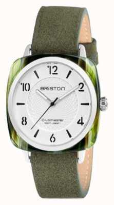 Briston Clubmaster Chic White Dial Green Strap 18536.SA.GE.2G.LNGA