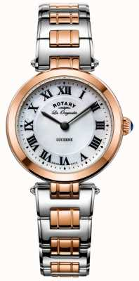 Rotary Womens Two Tone Lucerne Watch White Dial LB90187/41