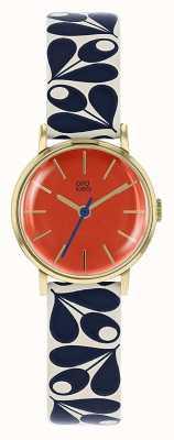 Orla Kiely Womens Patricia Navy And Cream Print Strap Watch OK2204