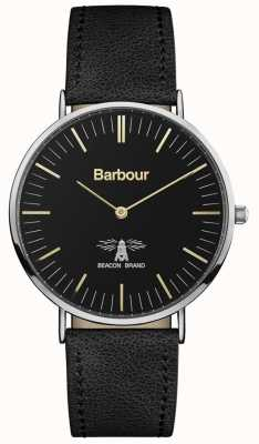 Barbour Mens Hartley Black Leather Strap Black Dial BB055BKBK