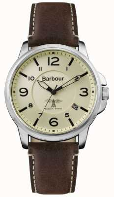 Barbour Mens Barnard Brown Leather Strap Cream Dial BB072CPBR