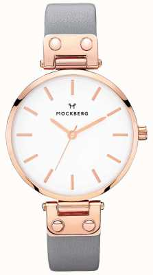 Mockberg Womens Alicia Dark Grey Leather Watch MO118