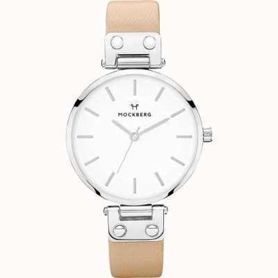 Mockberg Ladies Sara Beige Leather Strap MO120