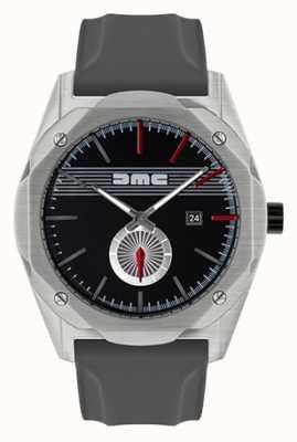 DeLorean Motor Company Watches THE DREAM ADVANCE Grey Silicone Strap Black Dial DMC-5