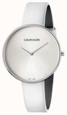 Calvin Klein Ladies White Leather White Dial Watch K8Y231L6