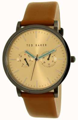 Ted Baker Mens Tan Leather Strap Multi-function Watch 10009249