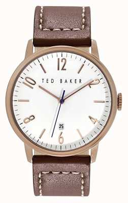 Ted Baker Mens Multi-function Watch Rose Gold Tone Case White Dial 10015136