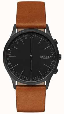 Skagen Jorn Connected Smart Watch Brown Leather Strap Black Dial SKT1202