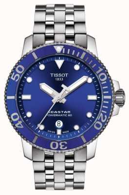 18d42f2dd Tissot Seastar 1000 Powermatic 80 Blue Dial Stainless Steel T1204071104100