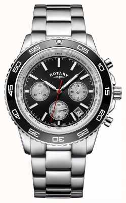 Rotary Men's Chronograph Date Display Tachymeter Stainless Steel GB00410/04