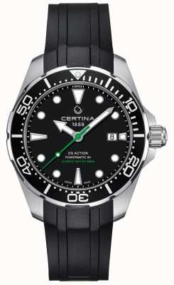 Certina Men's DS Action Diver Powermatic 80 Automatic Rubber Strap C0324071705100