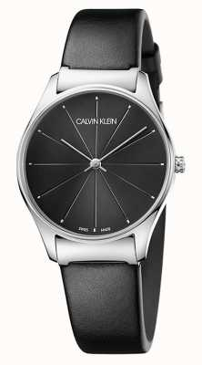 Calvin Klein Ladies Classic Black Leather Strap K4D221CY