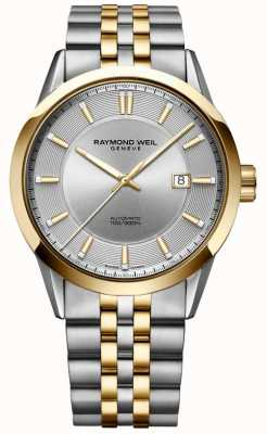 Raymond Weil Mens Freelancer Automatic Two Tone Bracelet Silver Dial 2731-STP-65001