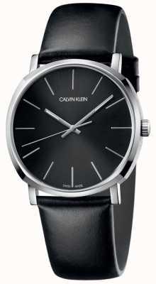 Calvin Klein Posh Black Leather Strap Black Dial K8Q311C1