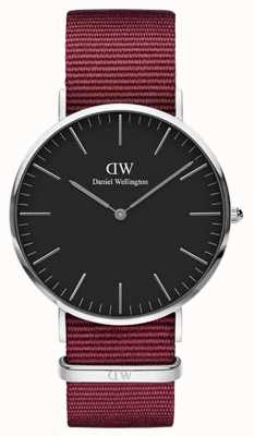 Daniel Wellington Classic Roselyn 40 Silver Case Black Dial DW00100270