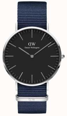 Daniel Wellington Classic Bayswater 40 Silver Case Black Dial DW00100278