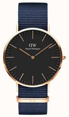 Daniel Wellington Classic Bayswater 36 Rose Gold Black Dial DW00100281
