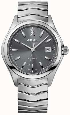 EBEL Men's Automatic Wave Grey Dial Date Display Stainless Steel 1216266