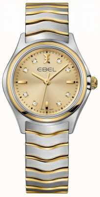 EBEL Women's Diamond Champagne Dial Two Tone Yellow Gold & Silver 1216317