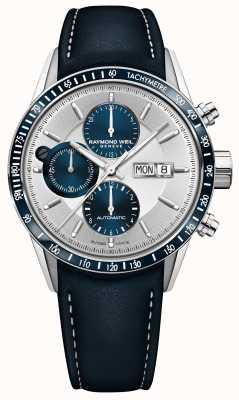 Raymond Weil Men's Freelancer Automatic Chronograph Blue Leather Strap 7731-SC3-65521