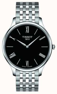 Tissot Mens Tradition Stainless Steel Bracelet Black Dial T0634091105800