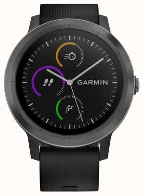 Garmin Vivoactive 3 HR Multisport Tracker Black Rubber Black Bezel 010-01769-10