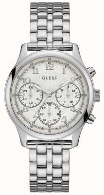 Guess Unisex Taylor Watch Large Chronograph Stainless Steel W1018L1
