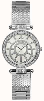 Guess Womens Muse Watch Silver Tone Bracelet W1008L1