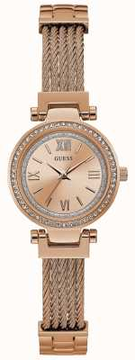 Guess Womens Mini Soho Watch Rose Gold Tone Bracelet W1009L3