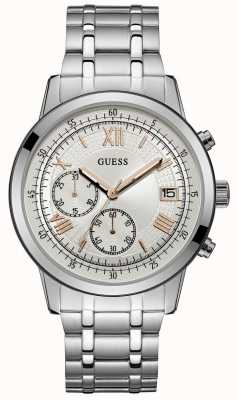 Guess Mens Summit Chronograph Watch Stainless Steel Bracelet W1001G1