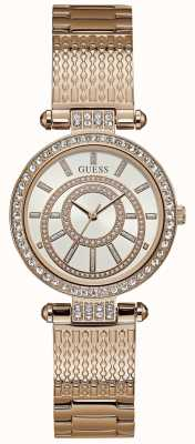 Guess Womens Muse Watch Rose Gold Tone Bracelet W1008L3