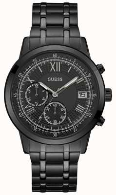 Guess Mens Summit Chronograph Watch Black Ion Plated Bracelet W1001G3