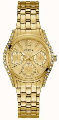Guess Womens Prima Watch Gold Tone Stainless Steel Bracelet W1020L2