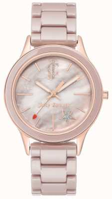 Juicy Couture Womens Plated Steel Bracelet Analogue Watch JC-1048TPRG