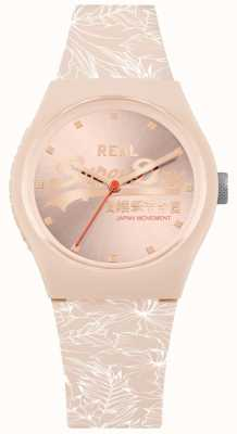 Superdry Urban Leaf Pale Pink Sunray Dial Pale Pink Strap SYL248C