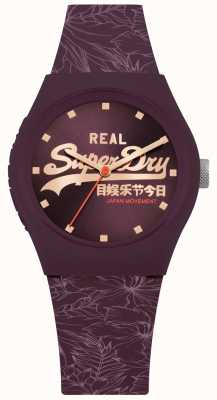 Superdry Urban Leaf Purple Sunray Dial Purple Strap SYL248V