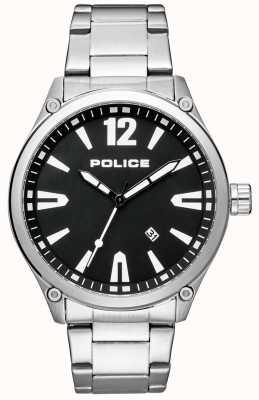 Police Mens Smart Style Stainless Steel Bracelet Black Dial 15244JBS/02M