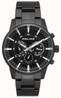 Police Mens Smart Style Black Bracelet Black Dial PL.15523JSB/02M