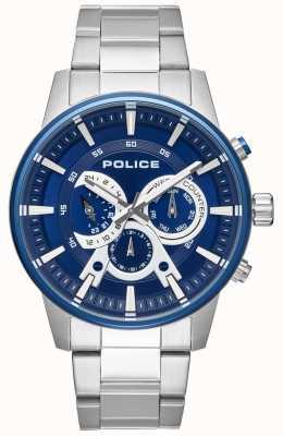 Police Mens Smart Style Stainless Steel Bracelet Blue Dial PL.15523JSTBL/03M