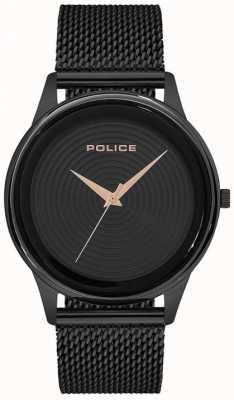 Police Mens Smart Style Black Mesh Bracelet Black Dial PL.15524JSB/02MM