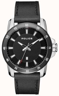 2fdd4bdf6e90 Police Mens Smart Style Black Leather Strap Black Dial PL.15526JSTB 02