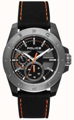 Police Urban Style Black Silicone Strap Black Dial PL.15527JSBU/02P