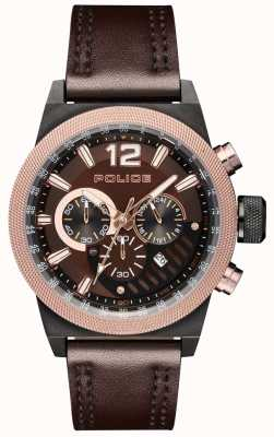 Police Urban Style Brown Leather Strap Brown Dial PL.15529JSBBN/12