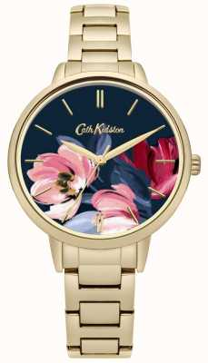 Cath Kidston Womens Gold Tone Bracelet Floral Printed Dial CKL050GM