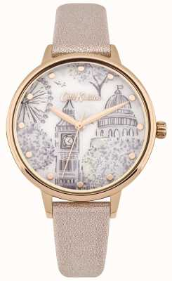 Cath Kidston Womens Rose Gold Metallic Strap Rose Gold Case Printed Dial CKL053PRG