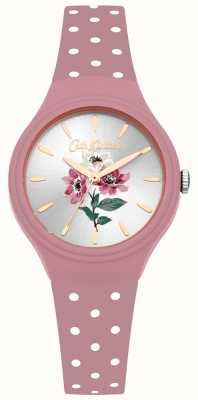Cath Kidston Womens Anemone Bouquet Pink Silicone Strap Watch CKL066P